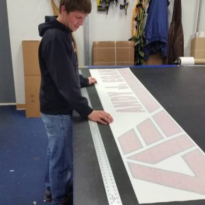 custom vinyl graphic fabrication