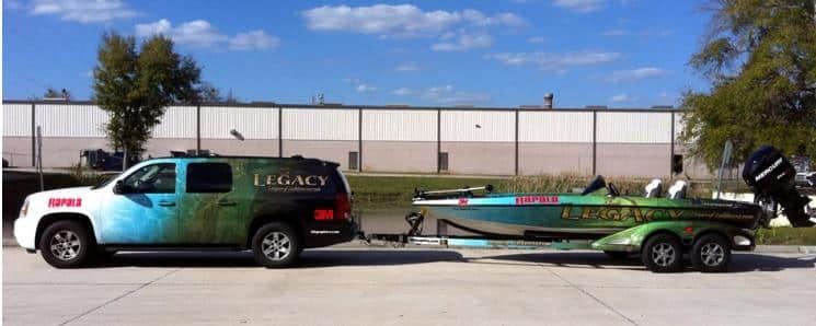 Boat Wraps custom truck boat wrap combo
